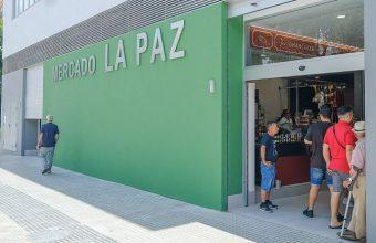 Mercado de la barriada de La Paz