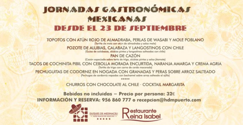 Jornadas gastronómicas mexicanas en el hotel Duques de Medinaceli