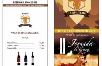 II Jornada de Caza del 4 al 14 de octubre en el restaurante El Campanero de Alcalá de los Gazules