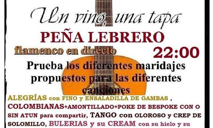 'Un cante, un vino. Un vino, una tapa' el 12 de octubre en el bar Bespoke del Puerto