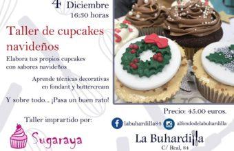 Taller de cupcakes navideños el 4 de diciembre