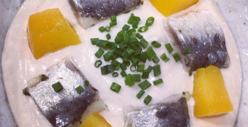 El ajoblanco con sardinas marinadas de Caramelo