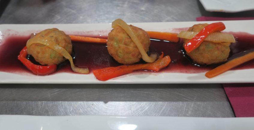 Las albóndigas de salmón de Casa Miguel