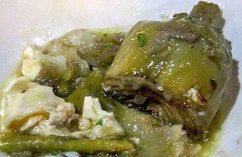 El guiso de alcachofas con habitas de El Ventorrillo de El Chato