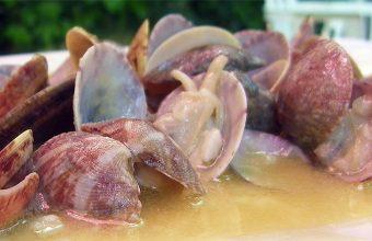 Almejas a la marinera del restaurante el Jardín de Canalejas de Puerto Real. Foto: Cosasdecome