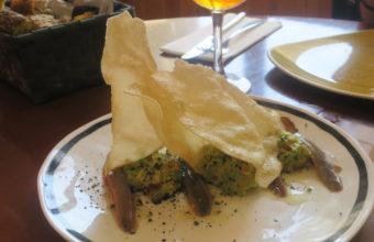 Las anchoas de Santoña con guacamole de Aplomo