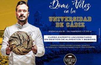 Ponencia sobre el pan honesto de Domi Vélez en la Universidad