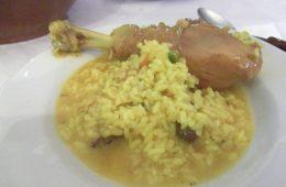 El arroz caldoso con perdices del Cortijo Los Monteros