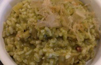 El arroz verde con alcachofas de El Fogón del Guanche