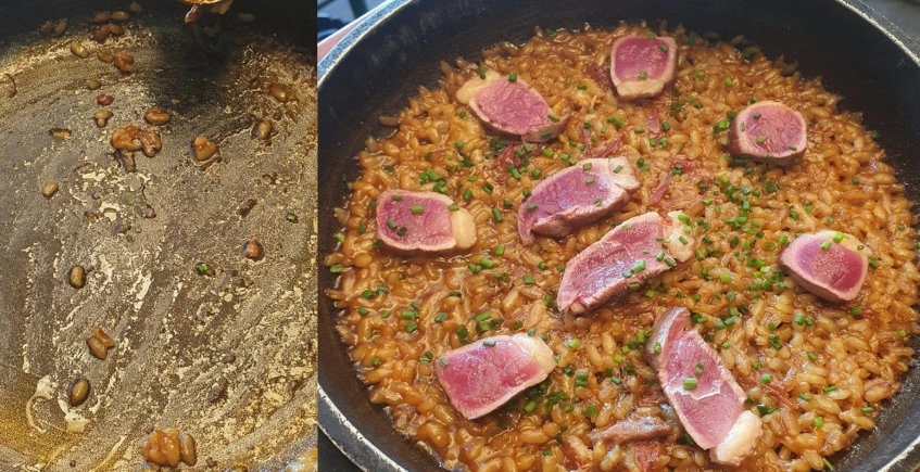 El arroz de pato con magret de La Buena Vida