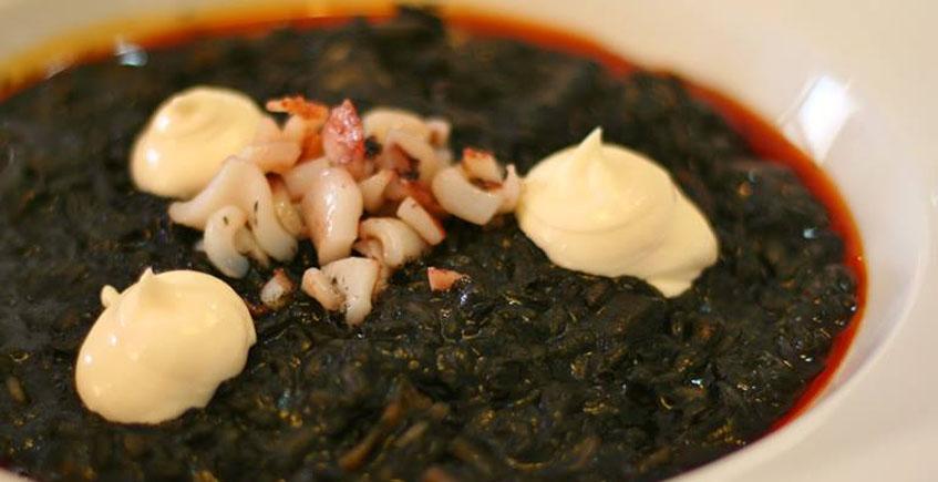 El arroz negro del restaurante La Divina
