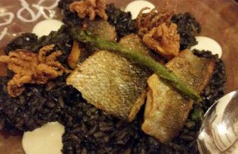 El arroz negro con lubina de El Fogón del Guanche