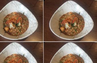 El arroz meloso con langostinos de On Egin