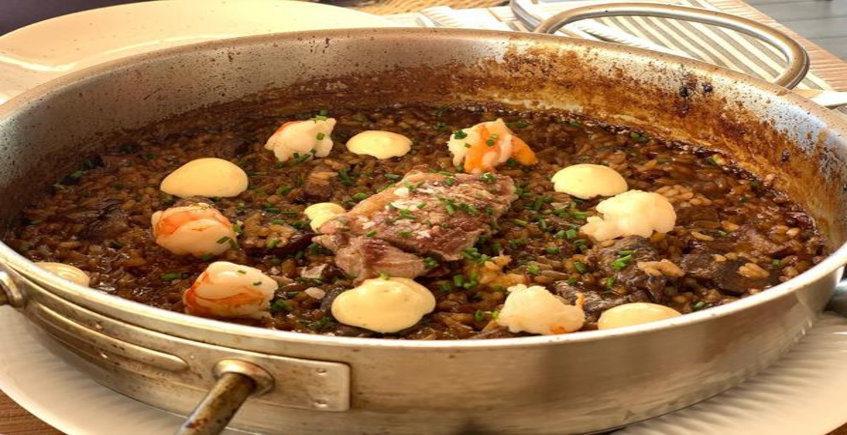 El arroz de presa ibérica de Viu Espacio Gastronómico