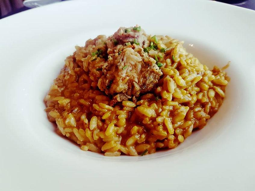 El arroz con ortiguillas fotografiado por José Miguel Barrón.
