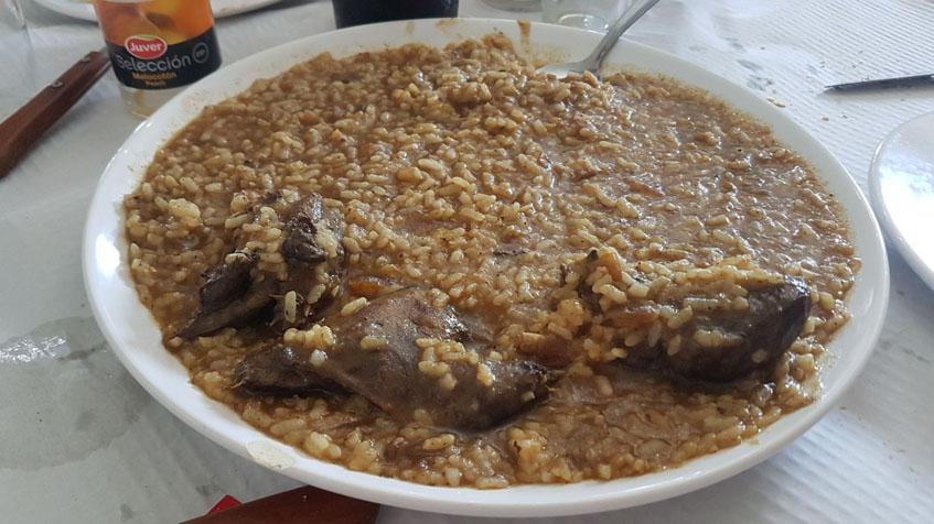 El arroz con pato de la Venta Millán de Sanlúcar fotografiado por el tapatólogo Periko Bernal.