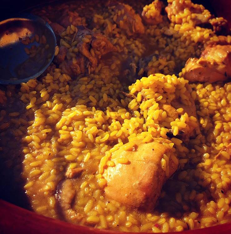 El arroz con pollo de campo de la Venta La Palmera fotografiado por el tapatólogo Ignacio Vaca.