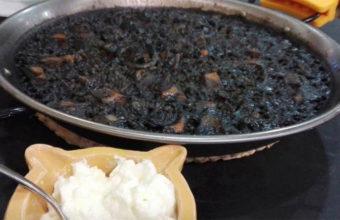 El arroz negro del restaurante Calamar