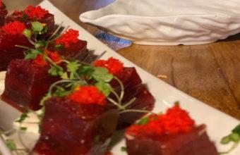 Tacos de atún rojo de almadraba del Hotel Restaurante La Breña