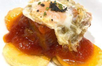 El atún con tomate y huevo de codorniz del restaurante Antonio