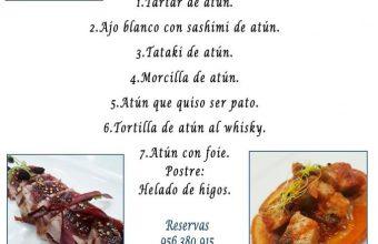 Menú degustación dedicado al atún en Avante Claro de Sanlúcar el 24 de mayo