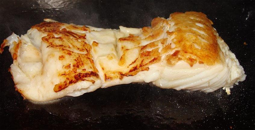 El bacalao asado de la Taberna del Sapo