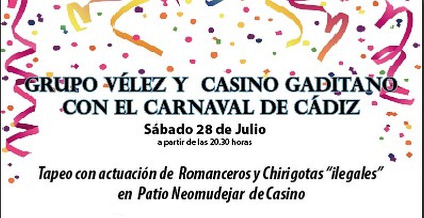28 de junio. Cádiz. Tapeo con actuaciones de romanceros y chirigotas ilegales en el Casino Gaditano