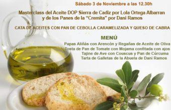 3 de noviembre. Medina Sidonia. Charla y cata de aceites de la Sierra y pan de La Cremita en El Berrueco Gastro