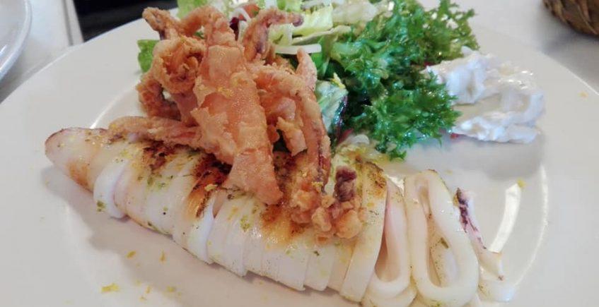 El calamar de potera del restaurante El Laul