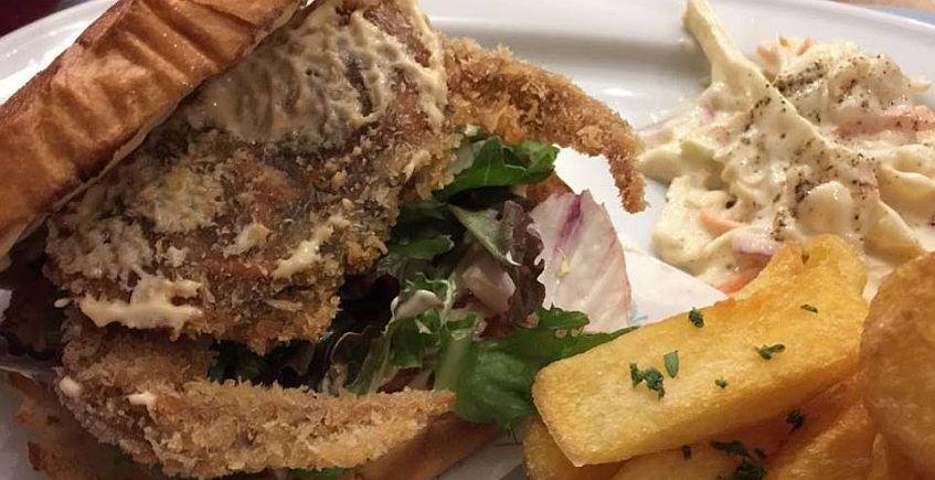 La hamburguesa de cangrejo de Crabbys