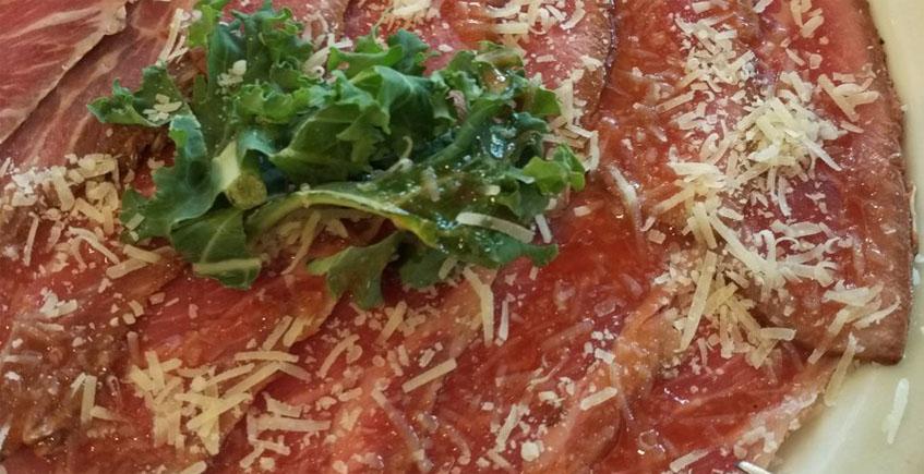 El carpaccio de presa ibérica del restaurante Carmen