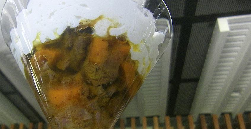 Carrillada de ternera con crema de payoyo