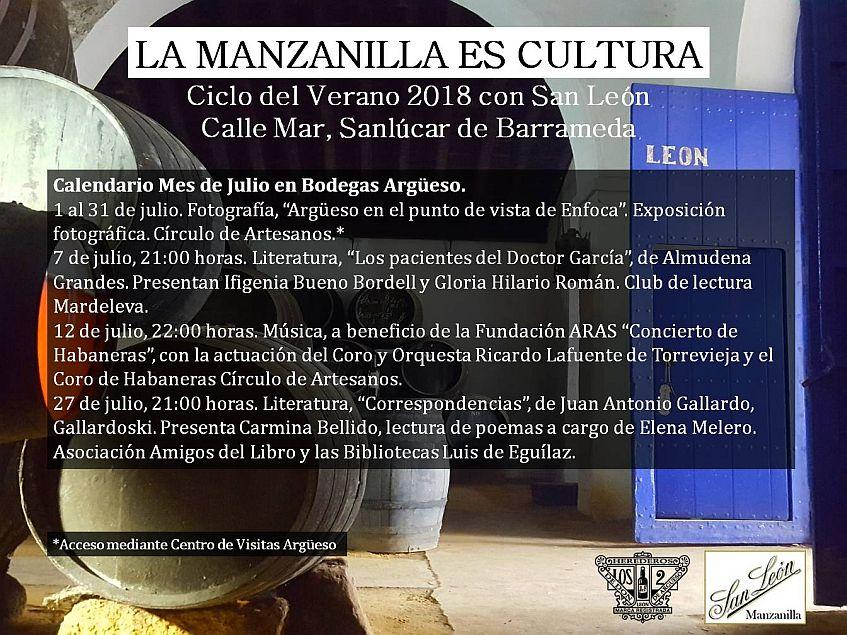 Cartel La Manzanilla es Cultura JULIO