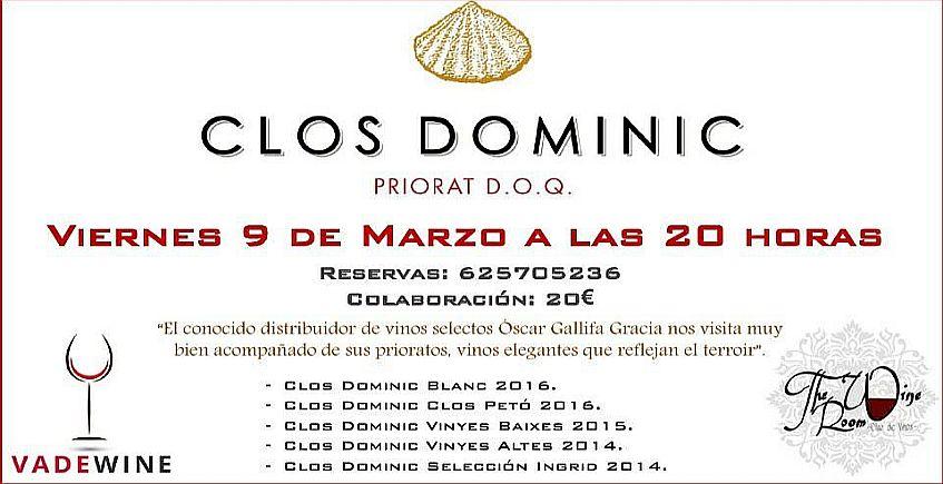 9 de marzo. San Fernando. Cata de vinos Clos Dominic