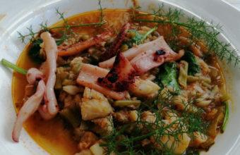 La cazuela de calamar del Restaurante Patria