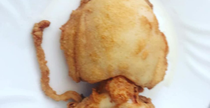 El choco frito de la peña bética Carlos Juez