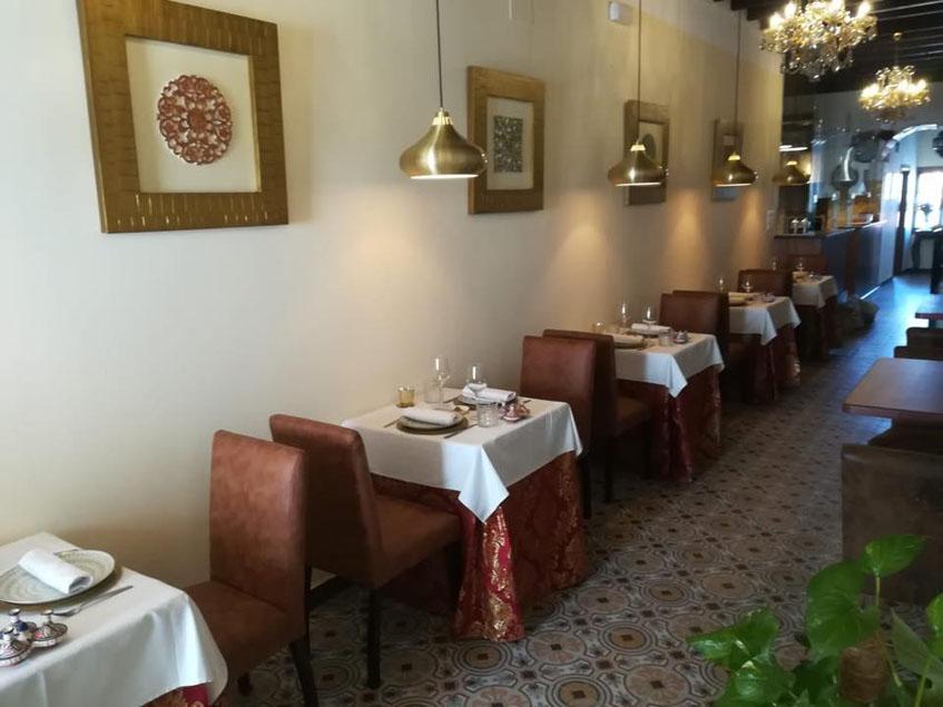 El comedor de Aljibe restaurante andalusi. Foto: Realizada por el restaurante.