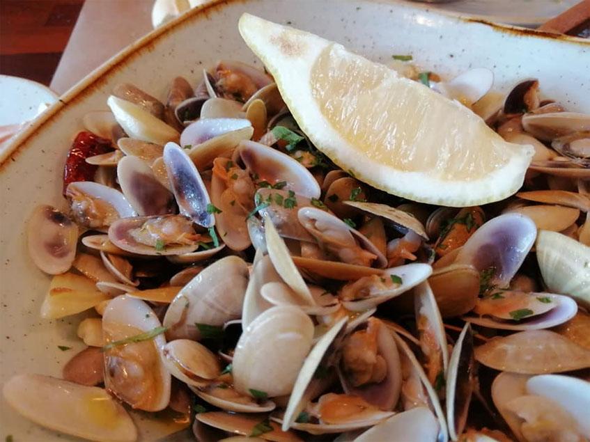 Las coquinas del restaurante La Despensa de Cádiz fotografiadas por la tapatóloga Lola López de la Orden.