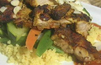El cordero con couscous y verduritas del restaurante Al Lago