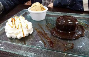 El coulant de chocolate del asador El Campanero