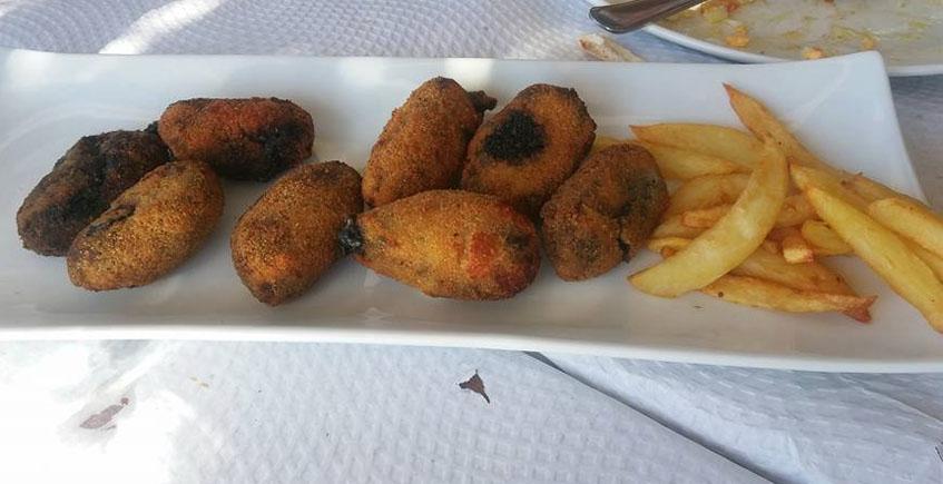 Las croquetas de chocos del restaurante Otero