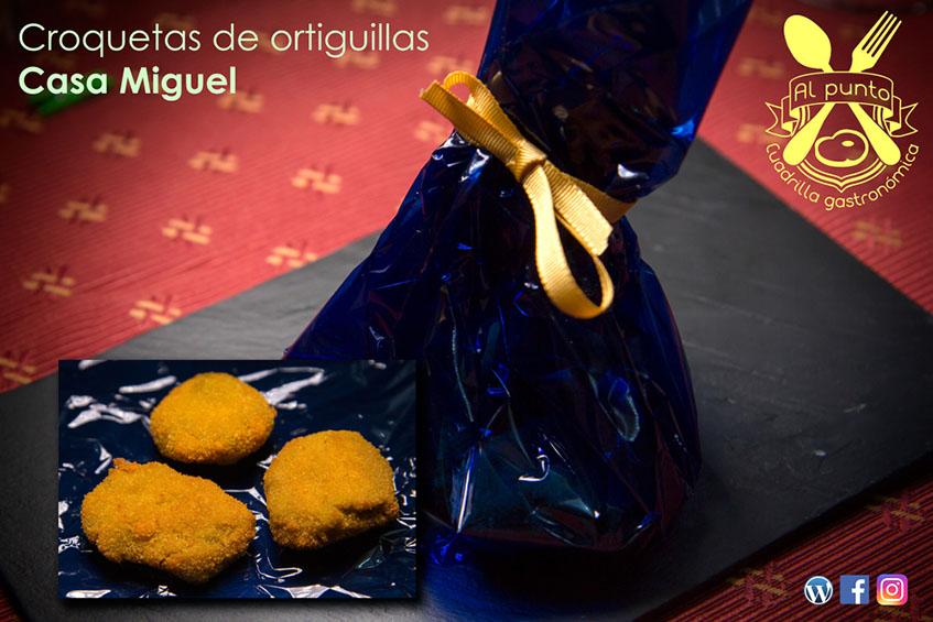 Las croquetas de ortiguilllas de Casa Miguel fotografiadas por la Cuadrilla Al Punto.