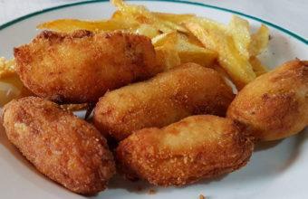 Las croquetas de pollo del restaurante Los Cazadores