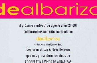 7 de agosto. Sanlúcar. Cata maridada con vinos de la Cooperativa Vitivinícola Albarizas de Trebujena
