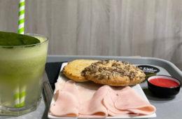 El bagel integral con pipas y pechuga de pavo de 0% Gluten
