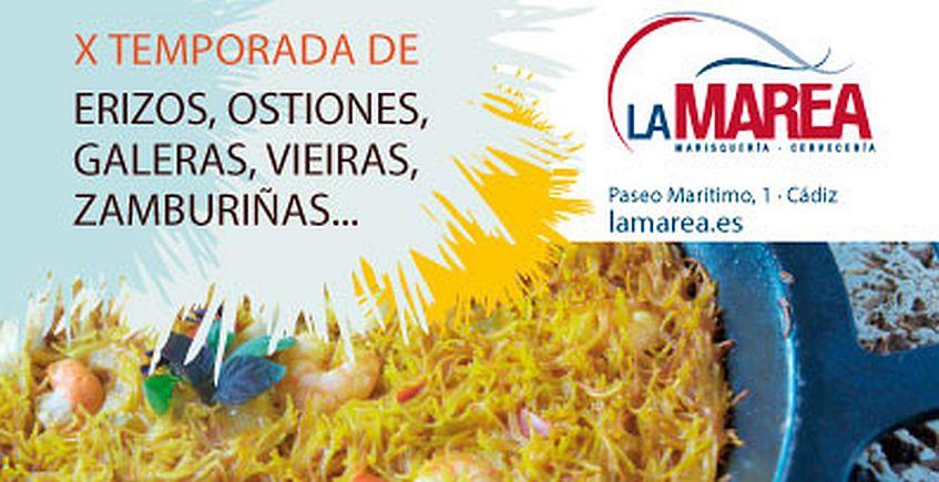 Desde el 2 de febrero. Cádiz. X Temporada de erizos, ostiones, galeras y vieiras en La Marea
