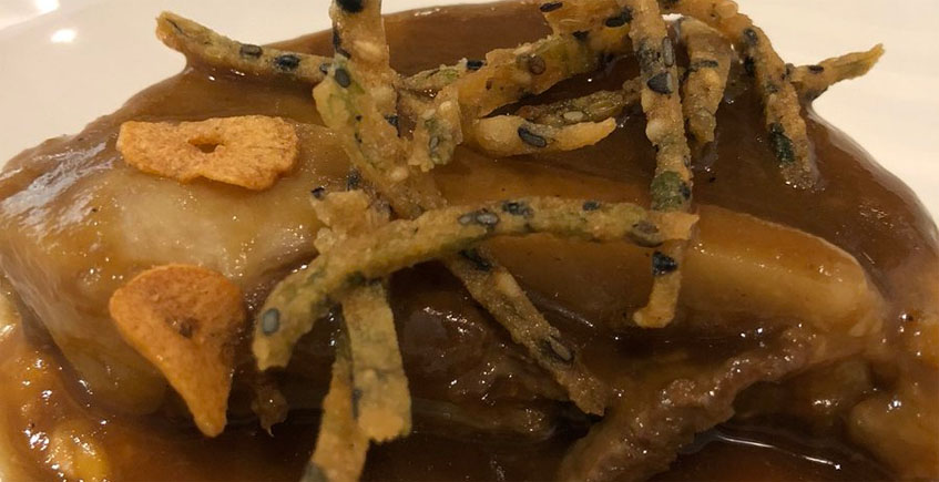 El galete de atún con calabaza del restaurante El Campero