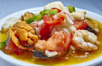 El salpicón de mariscos del restaurante El Faro