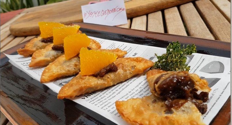 Empanadilla de naranja y nueces al moscatel