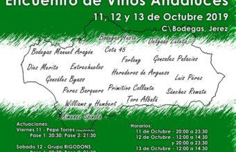 I Encuentro de Vinos Andaluces en Jerez del 11 al 13 de octubre